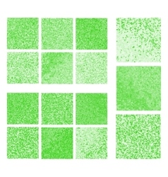 Abstract square pixel mosaic background set vector