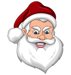 Angry Santa Claus Face Side View vector image