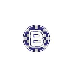 B alphabet music logo design concept vector