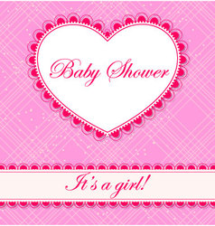 Baby-shower-cell-heart-banner-girl vector