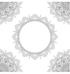 Background with floral mandalas coloring book vector