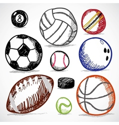 Ball Sport Doodles vector