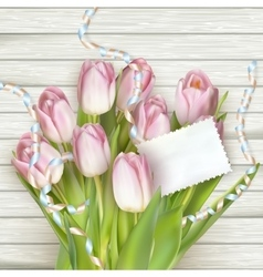 Beautiful tulips with card EPS 10 vector