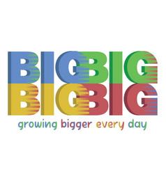 big big big print for kids vector image