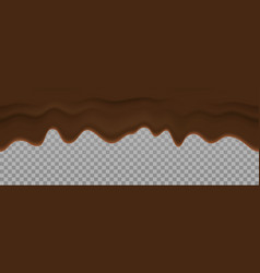bitter chocolate liquid texture dripping cream vector image