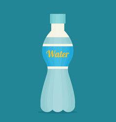 bottle of water icon in flat style vector image
