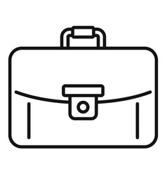 business leather bag icon outline style vector image