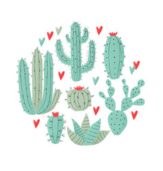 cactus plant vector image