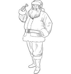 Christmas Character Santa Claus lineart vector