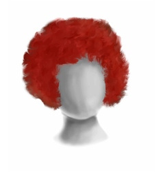 Circus red hair vector
