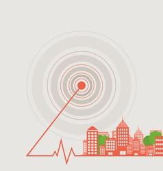 City a wave vector image