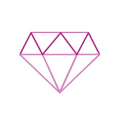 Color line beauty luxury diamond gen accessory vector