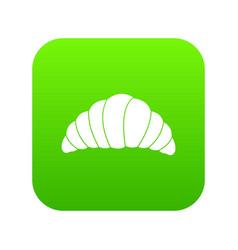 croissant icon digital green vector image