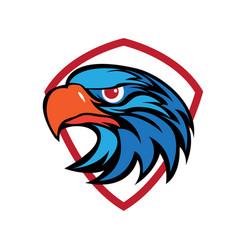 Eagle head security logo vector