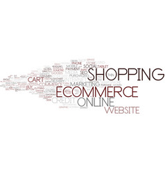 Ecommerce word cloud concept vector