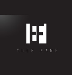 ef letter logo with black and white negative vector image