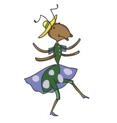Fabulous ant is dancing vector