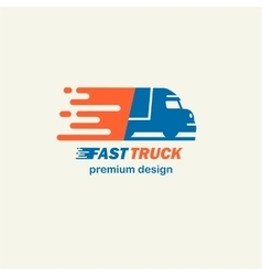 fast truck the template for logos icons vector image