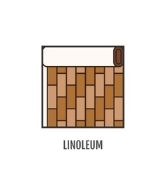 Flat icon of linoleum Finishing materials floor vector image