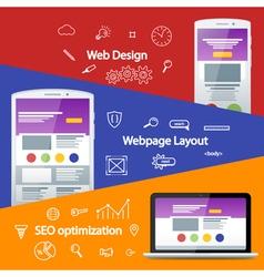 Flat material design banner vector