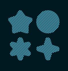 four shape element design in line vector image