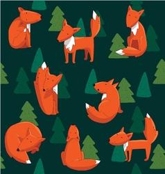 Fox pattern vector