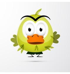 Funny Green Bird vector