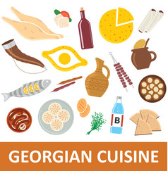 georgian cuisine vector image