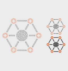 Global medical network mesh carcass model vector