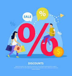 great sale flat background vector image