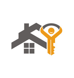 home and key success life vector image
