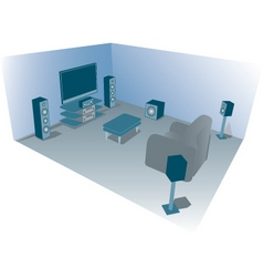 Home cinema vector