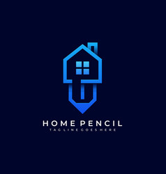 home pencil template vector image