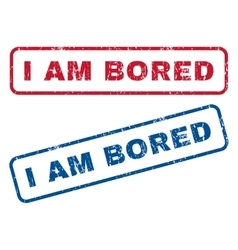 I Am Bored Rubber Stamps vector