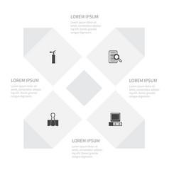 Icon work set of fastener vintage hardware vector