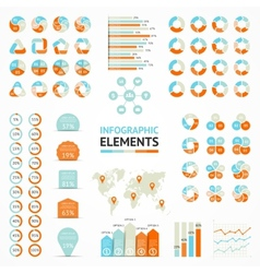 infographic elements set Templates for diagram vector image