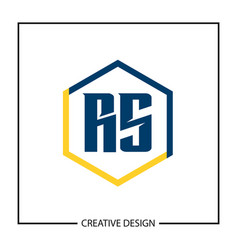 Initial letter rs logo template design vector