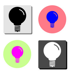 lamp flat icon vector image