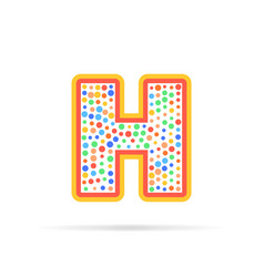 letter h with group of circles abstract logo icon vector image