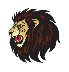 lion roaring logo cartoon vector image
