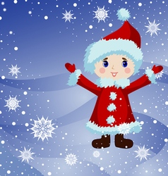 Little Santa vector image