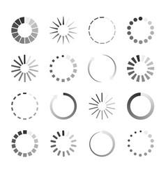 load icons process wait on digital screen bar vector image