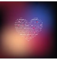 Love Handwriting card vector