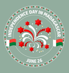 Madagascar independence day label vector