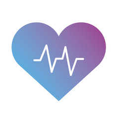 Medical heart cardiology pulse gradient silhouette vector