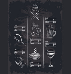 Menu restaurant items vector