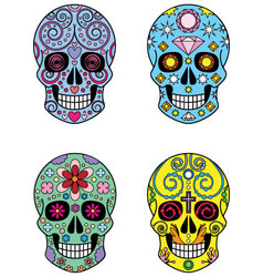 Mexican Sugar Skulls vector