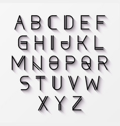 Modern font with shadow effect vector