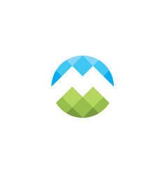 Mountain logo m icon letter symbol vector