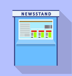 Newsstand kiosk icon flat style vector